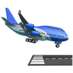 Airplane Arrival Emoji U 1f6ec