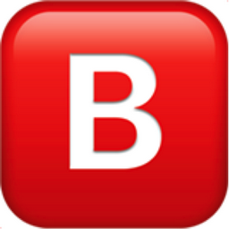 B Button Blood Type Emoji U 1f171 U Fe0f
