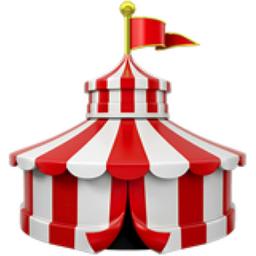 Circus Tent  sc 1 st  iEmoji.com & Circus Tent Emoji (U+1F3AA)