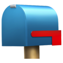 Closed Mailbox with Lowered Flag Emoji U1F4EA