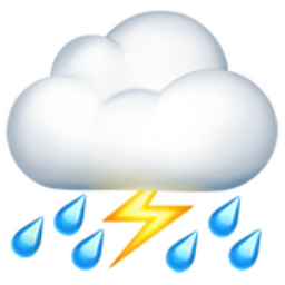 Cloud With Lightning And Rain Emoji U 26c8