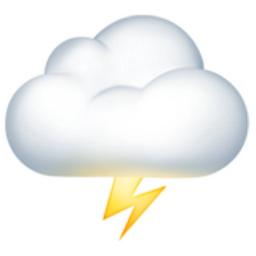 Cloud With Lightning Emoji U 1f329