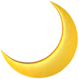 Crescent Moon Emoji U 1f319