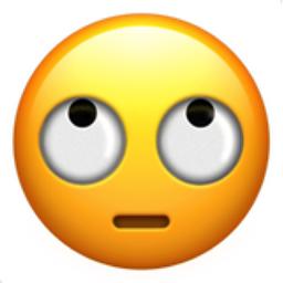Face with Rolling Eyes Emoji (U+1F644)