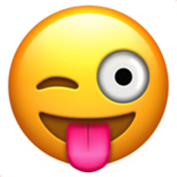 what does smiley face with tongue out mean
