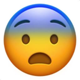 scared face emoji