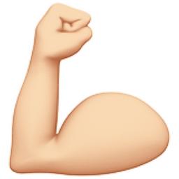 Flexed Biceps Light Skin Tone Emoji U 1f4aa U 1f3fb