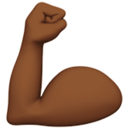 Flexed Biceps Medium Dark Skin Tone Emoji U 1f4aa U 1f3fe