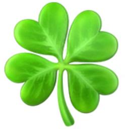 Four Leaf Clover Emoji U 1F340
