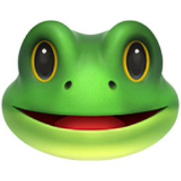 Frog Face Emoji (U+1F438)