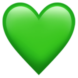What does a green heart emoji mean