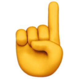 Image result for finger up emoji