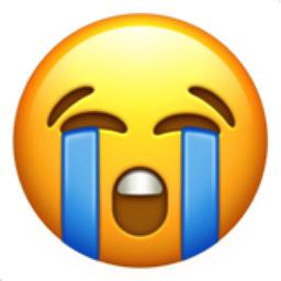 Loudly Crying Face Emoji U 1f62d