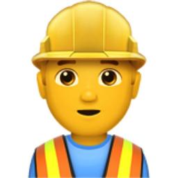 man construction worker emoji  u 1f477  u 200d  u 2642  u fe0f clipart apple black and white clip art apples free