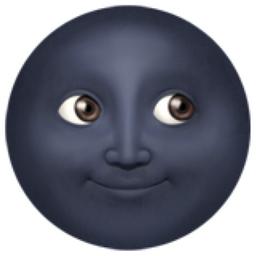 Image result for black moon face emoji