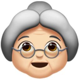 Old Woman Light Skin Tone Emoji U 1f475 U 1f3fb
