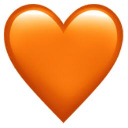Orange Heart Emoji U 1f9e1
