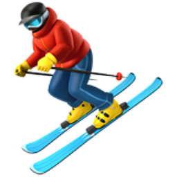 Skier Emoji U 26f7