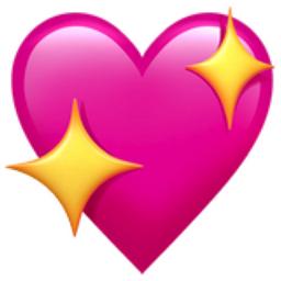 Iphone Emoji Heart Sparkling Heart Emoji ...