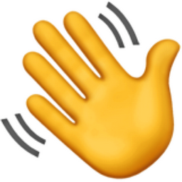Waving Hand Emoji (U+1F44B)