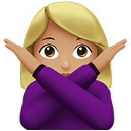 Woman Gesturing No Medium Light Skin Tone Emoji U 1f645