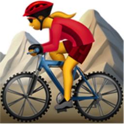 Woman Mountain Biking Emoji U 1F6B5 200D 2640 FE0F