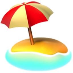 Beach Umbrella in Sand emoji