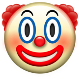 Clown Face Emoji U 1f921