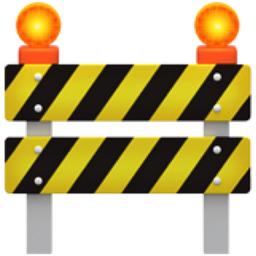 Construction Emoji (U+1F6A7)