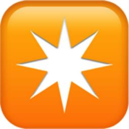 Eight Pointed Star Emoji U 2734 U Fe0f