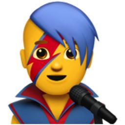 Bowie Inspired Singer emoji