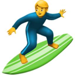 Man Surfing Emoji U 1f3c4 U 0d U 2642 U Fe0f