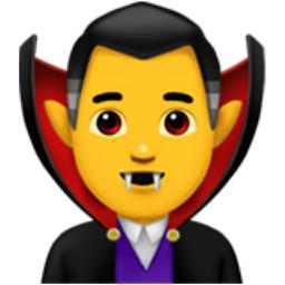 Man Vampire Emoji (U+1F9DB, U+200D, U+2642, U+FE0F)