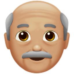 4 Chronological Old Man Medium Light Skin Tone