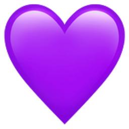 Purple Heart Emoji U 1f49c