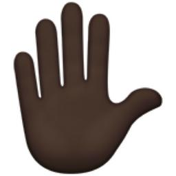 Raised Hand Dark Skin Tone Emoji U 270b U 1f3ff