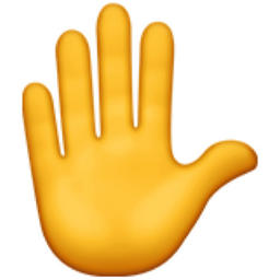 Raised Hand Emoji U 270b