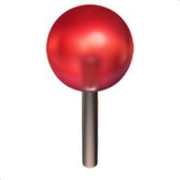 Round Pushpin Emoji U 1f4cd