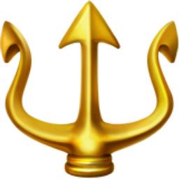 Trident Emblem Emoji (U+1F531)