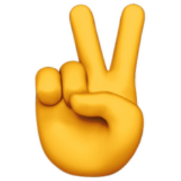 Victory Hand Emoji U 270c U Fe0f