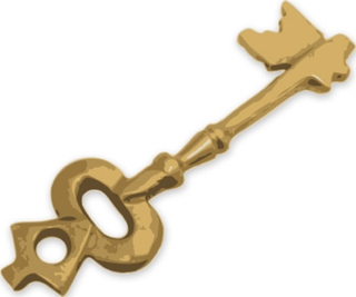 gold key illustration clip art isolated on white