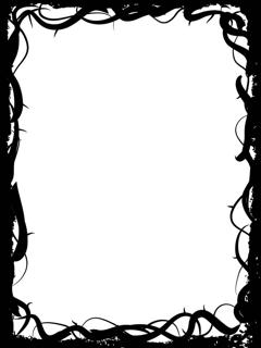 thorn border frame clip art