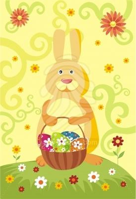 Húsvét kártya grafika illusztráció