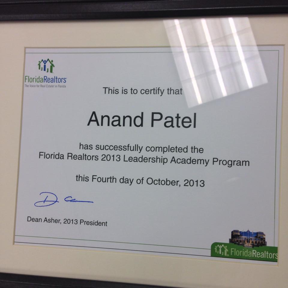 Florida Realtors® Leadership Academy Graduate Anand Patel Looks Ahead to Real Estate Industry Future