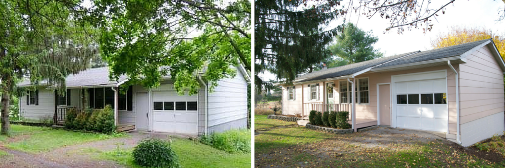 This home had peeling paint and overgrown vegetation. With a fresh coat of paint and spruced up landscaping, we sold it in just 2 days.