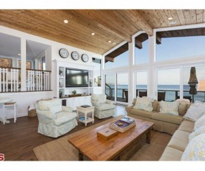 Traditional Style Malibu Beach House at Broad Beach