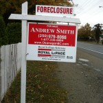 Kelowna Foreclosure sign with Andrew Smith