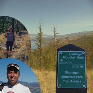 Okanagan Mountain Park start of trail
