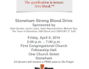 Stoneham Strong Blood Drive 4/8