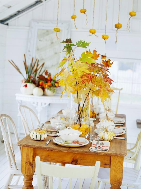 Fall Dining Table Decor Photograph Fall Dining Table Decor